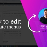 How to create and edit menus